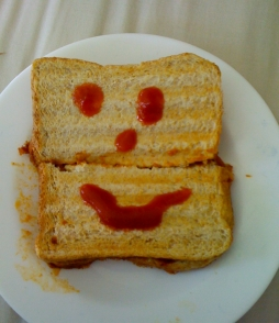 Smiley sandwich